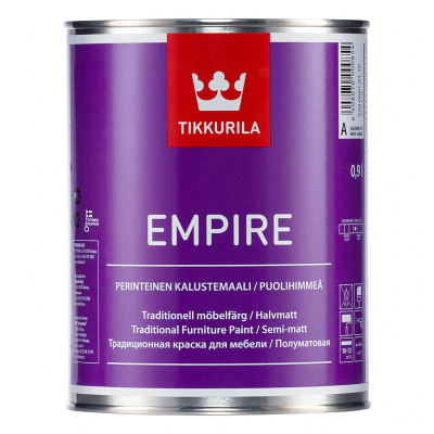 Краска для мебели Tikkurila EMPIRE A п/мат 0,9л